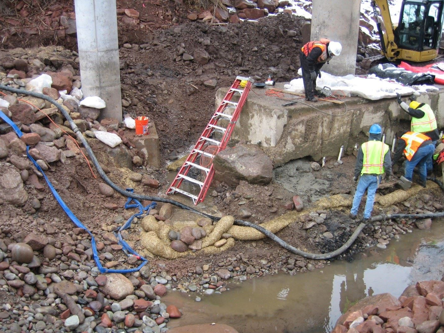 27th Street Bridge Scour Mitigation January 2011